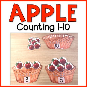 Apple Counting 1-10 | Math Center Activity