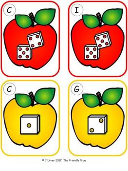 Apple Counting 1-10 {Subitizing with Dice}