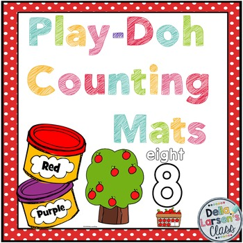 Apple Counting 1-20 Play Doh Mats with Bonus Coloring Book