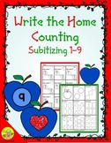 Apple Counting 1-9 (Subitizing) Write the Home | Distance