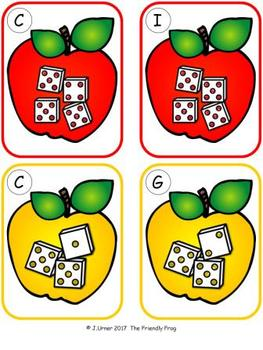 Apple Counting 11-20 {Subitizing with Dice}