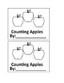 Apple Counting Emergent Reader book for Preschool or Kindergarten
