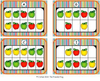 Apple Counting, Addition & Subtraction with Ten Frames {Subitizing}