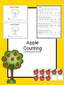 Apple Counting Book with worksheets