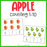 Apple Counting Cards 1-10