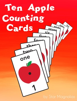 Apple Counting Cards 1-10 FREE