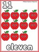 Apple Counting Cards and Number Puzzles