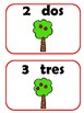 Apple Counting Cards 0-10 in Spanish