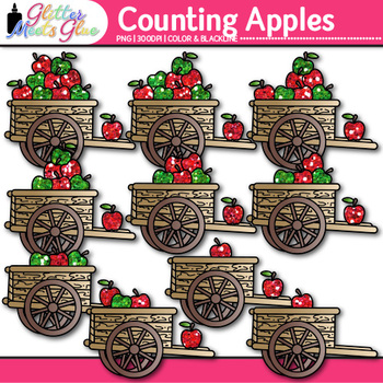 Apple Counting Clip Art {Fall Counting and Sorting Manipulatives for Math}