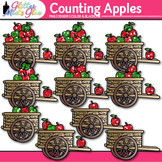 Apple Counting Clip Art {Fall Counting and Sorting Manipul