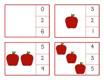 Apple Counting Clip Cards 0-20