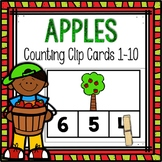 Dollar Deals! Apple Counting Clip Cards 1-10