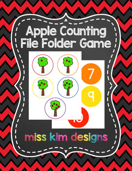 Apple Counting File Folder Game for Special Education