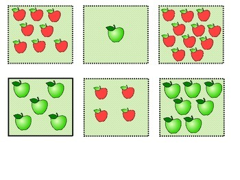 Apple Counting Folder Game