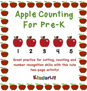 Apple Math -  Counting Sets In Pre-K