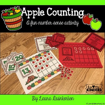 Apple Counting Math-A Fun Number Sense Activity