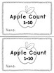 Apple Counting Math Book- September Math Center