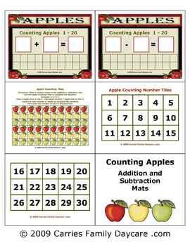 Apple Counting Math Mats