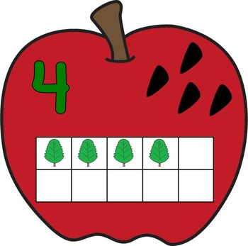 Apple Counting Math Mats