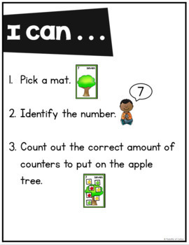 Apple Counting Mats 0-20