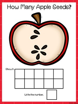 Apple Counting Mats 1-10, Counting Booklet & Memory Cards