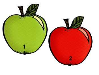 Apple Counting Mats 1-20