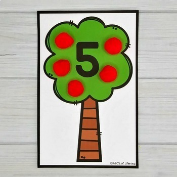 Apple Counting Mats #1-20