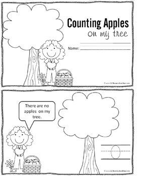 Apple Counting Mini Book