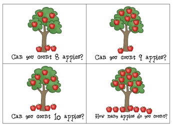 Apple Counting Number Book