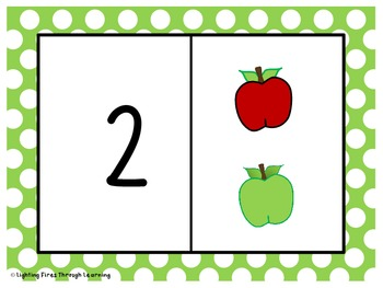Apple Counting Play Dough Mats 1-5