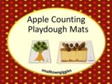 Counting to 10 Playdough Mats for Apple Math Activities, Preschool Kindergarten