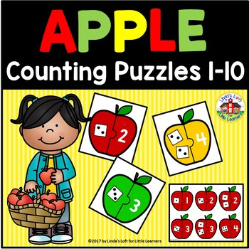 Apple Counting Puzzles 1-10