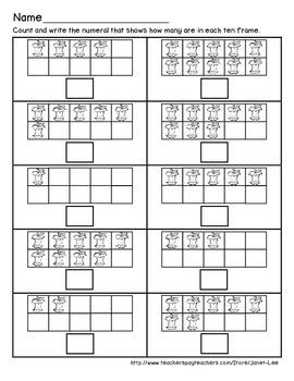 Apple Counting Worksheet 1