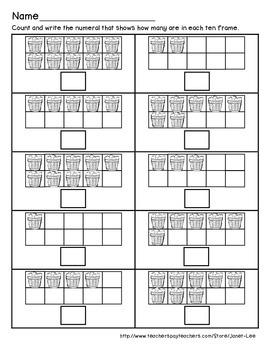 Apple Counting Worksheet 2