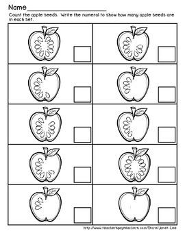 Apple Counting Worksheet 4