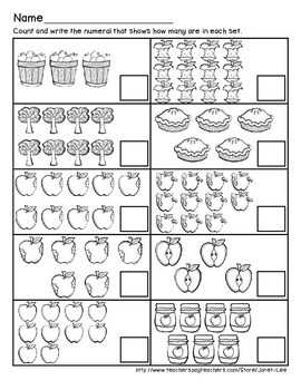 Apple Counting Worksheet 6