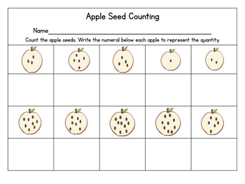Apple Counting- a unit designed to build number sense