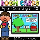 Apple Counting to 20 - Digital Task Cards - Boom Cards
