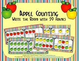 Apple Counting with 20 Frames {Subitizing}