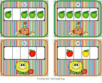 Apple Counting with 5 Frames {Subitizing}
