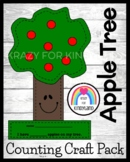 Apple Tree Craft with Counting Math Activity for Fall, Autumn, Johnny Appleseed