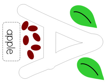 """A is for """"Apple with a Face"""" Apple Craft"""