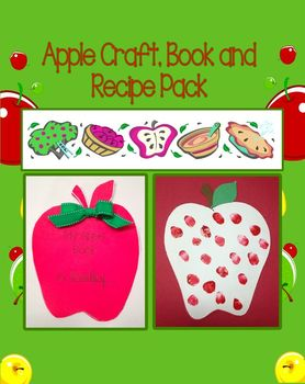 Apple Craft, Book, and Recipe Pack (Great for Johnny Appleseed Day)