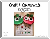 Apple Craft & Communication Visuals for Preschool, Pre-K and Special Needs