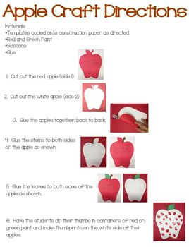 Apple Craft (Great for Johnny Appleseed Day)