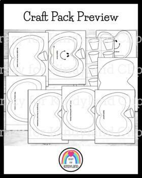 Apple Craft Pack: Book, Counting, Poem, Basket