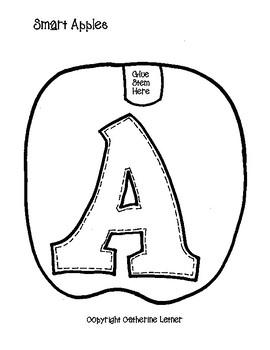 "Apple Craft, Fall Craft ""Smart Apples"" Bulletin Board Letters!"
