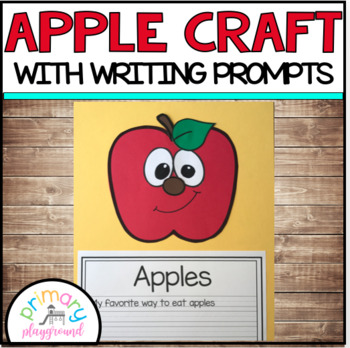 Apple Craft With Writing Prompts/Pages