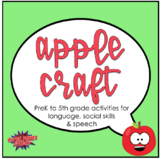 Apple Craft for Speech Therapy