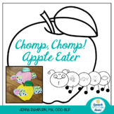 Apple Craftivity: Articulation Black & White, Print & Go Craft!